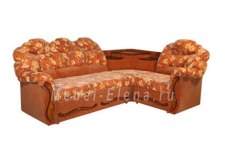 угловой диван мираж с полкой купить мягкую мебель в интернет