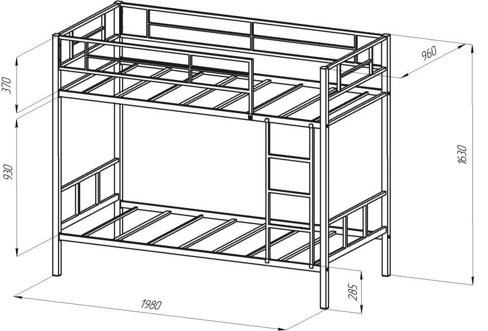 Как сделать двухъярусную кровать своими руками металлическую